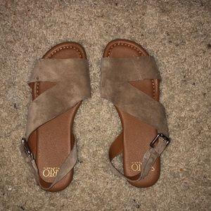 Franco Sarto suede sandals size 5